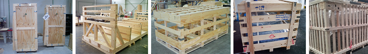 Plywood wooden boxes and bases and crates for export packaging