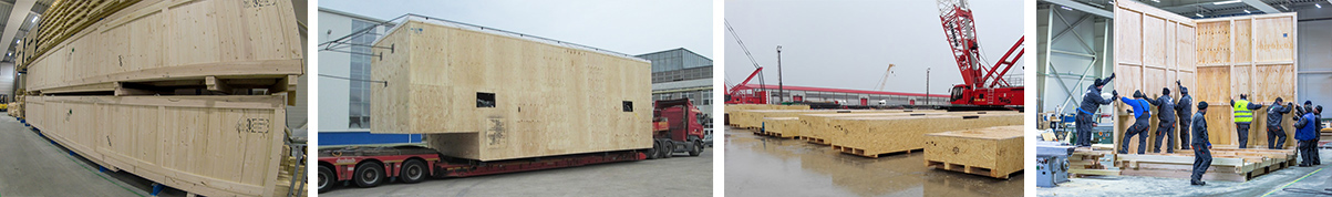 Oversized and heavy duty crates for export packaging